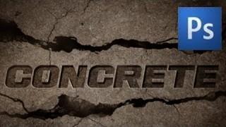 Concrete Text Effect